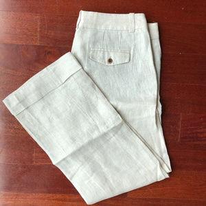 Linen J. Crew Trouser